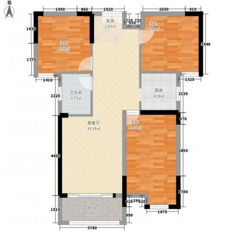 暨阳上河园二期3室1厅1卫0厨113.00㎡户型图