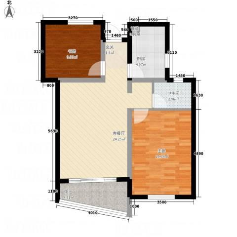 天华・明珠2室1厅1卫1厨89.00㎡户型图