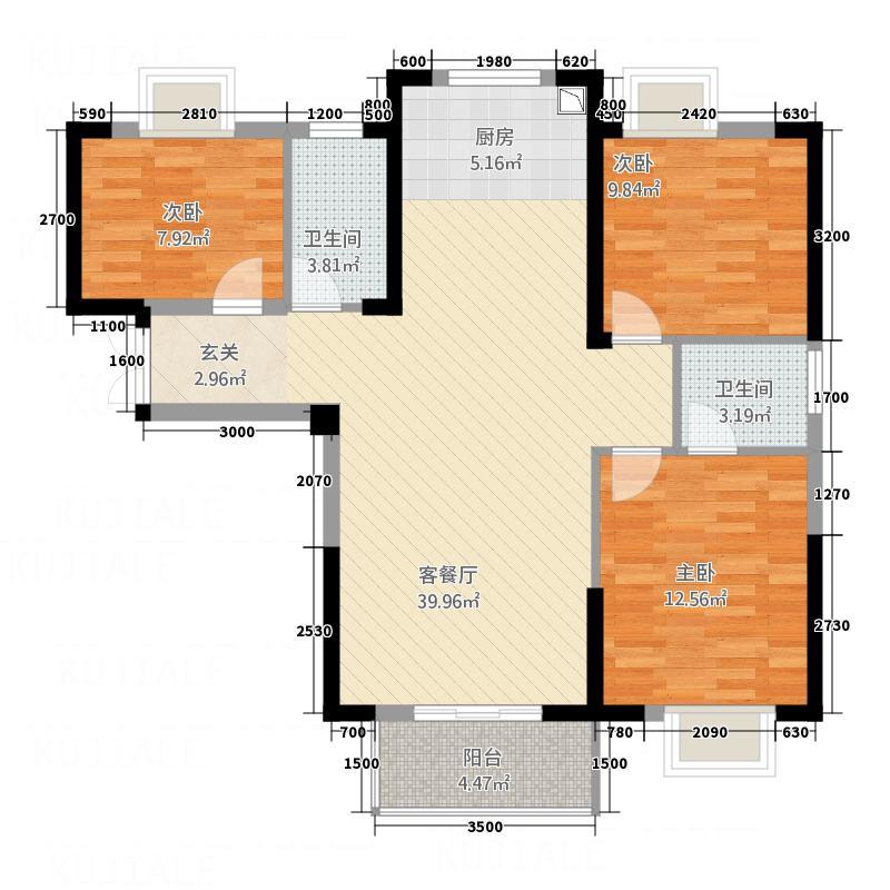 金辰・星河湾3111.20㎡户型3室2厅2卫1厨