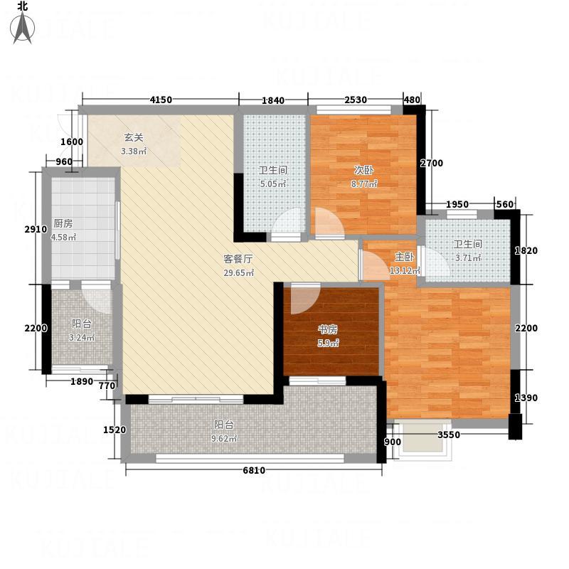 嘉阳・天宇45671112号楼6号户型3室2厅2卫1厨