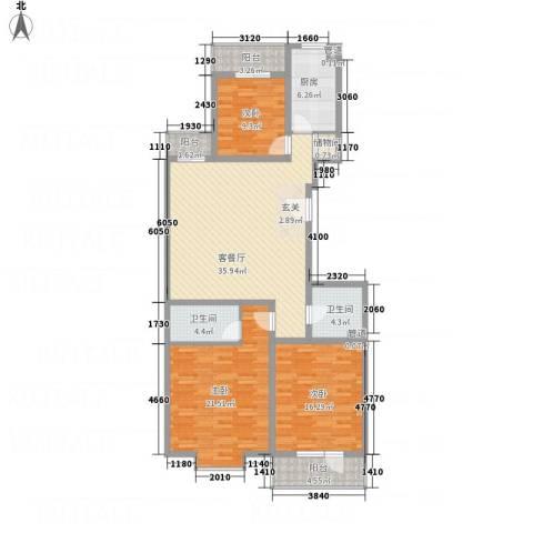 怡和国际花园3室1厅2卫1厨154.00㎡户型图