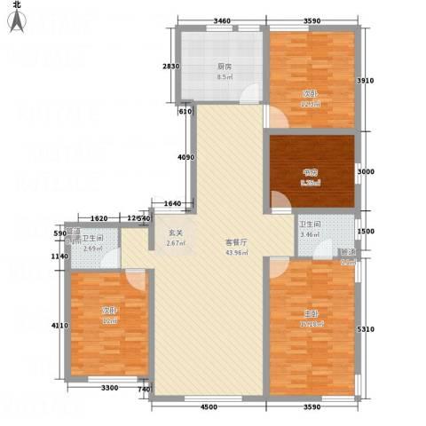 银亿家园4室1厅2卫1厨109.54㎡户型图