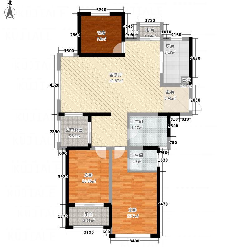 世纪华城141.00㎡A3户型3室2厅2卫1厨
