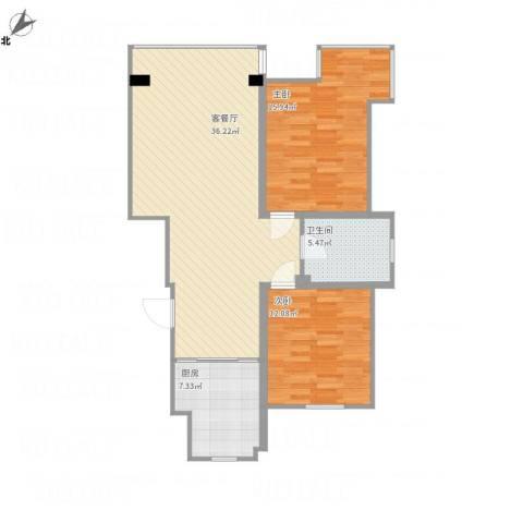 吉粮康郡2室1厅1卫1厨105.00㎡户型图