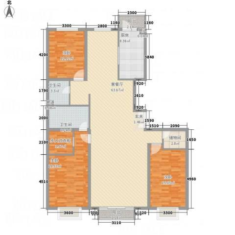 宏洋美都3室1厅2卫1厨191.00㎡户型图