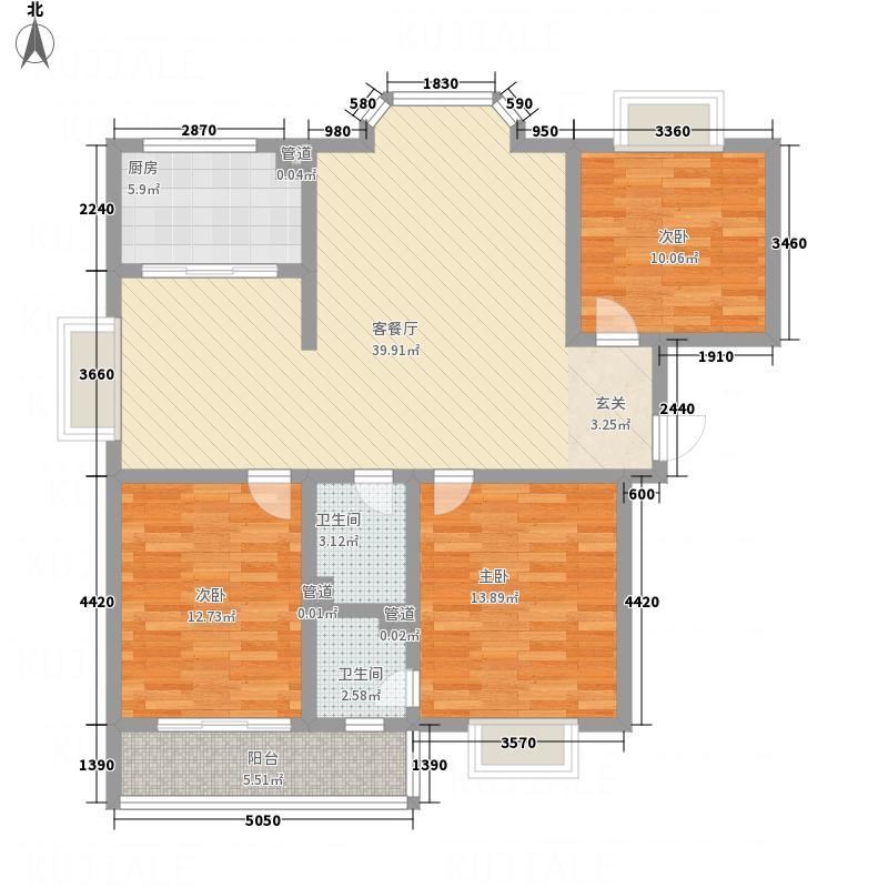 金鑫・杏林嘉园136.24㎡11#12#A户型3室2厅2卫1厨