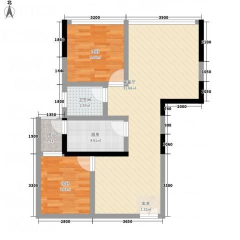 金源达・时代广场2室1厅1卫1厨1127.00㎡户型图