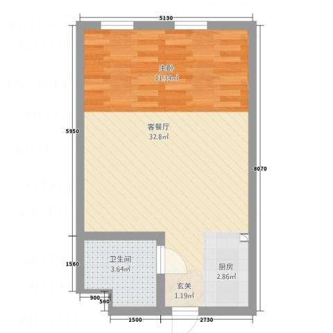 东凯万鸿1厅1卫0厨1154.00㎡户型图
