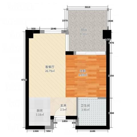 发现之旅空中别墅上林1厅1卫0厨55.00㎡户型图