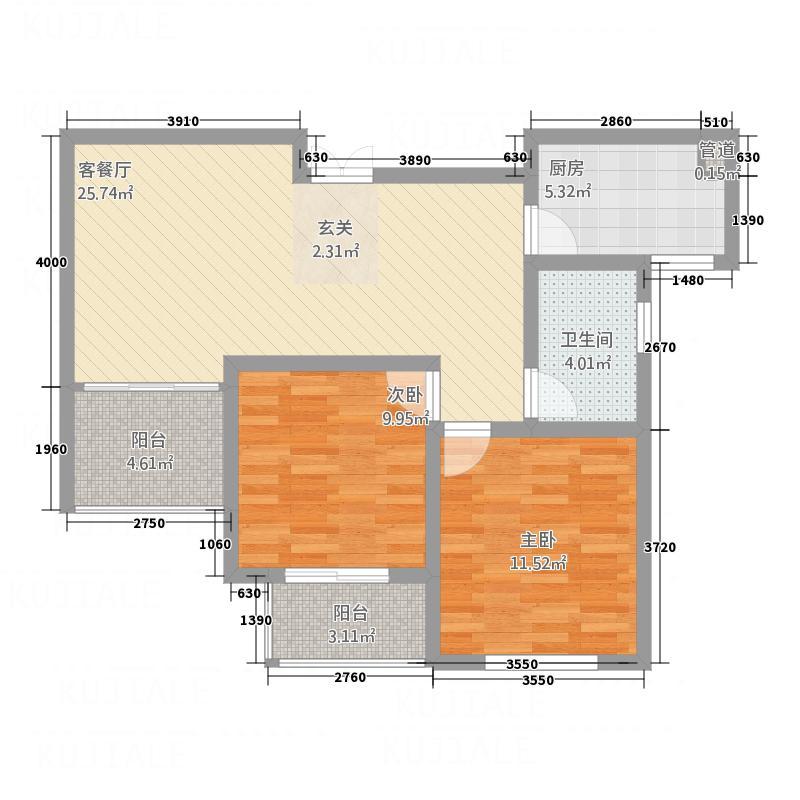 御品世家134.00㎡G2户型3室2厅2卫1厨