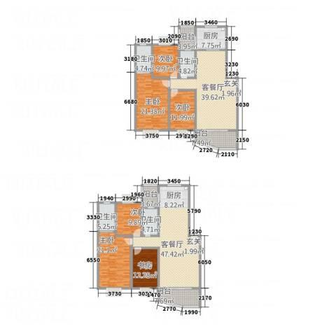 嘉怡锦湾6室2厅4卫1厨223.96㎡户型图