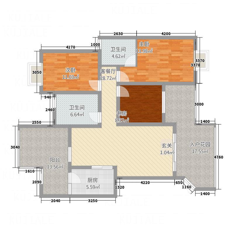 泰和花园74.00㎡户型2室