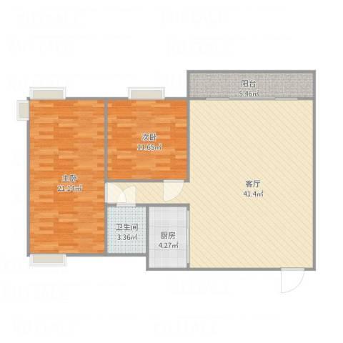 京华奥园-2栋2单元12012室1厅1卫1厨116.00㎡户型图