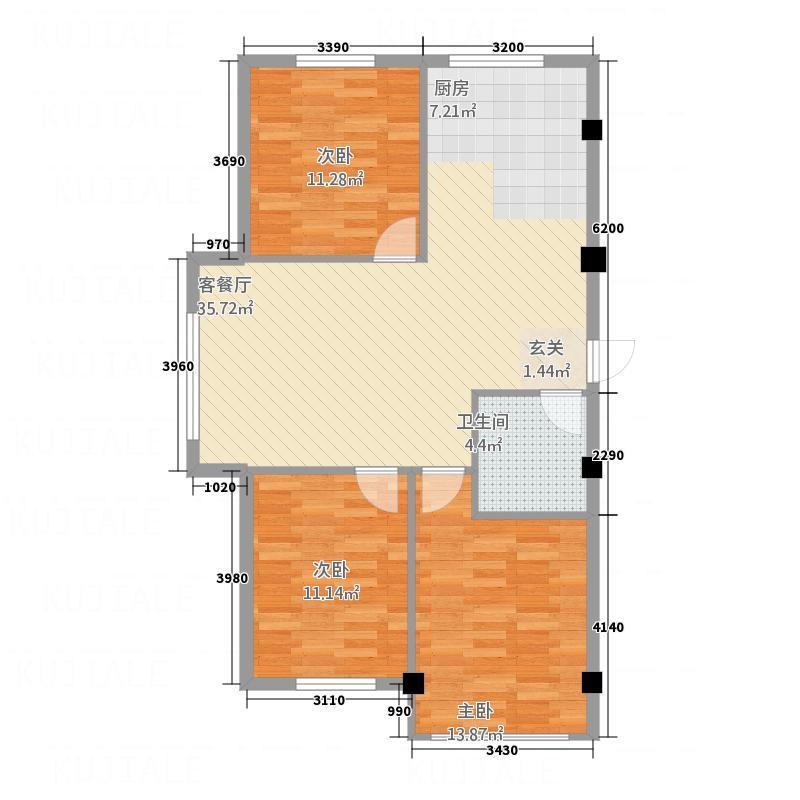 信宇时代广场户型2室