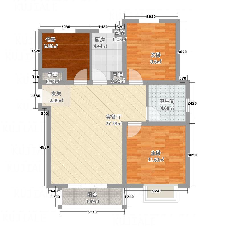 东亚清风小镇D户型3室2厅1卫