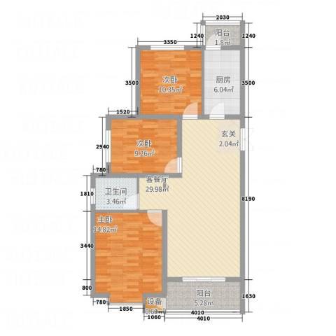 建邦・向�院3室1厅1卫1厨116.00㎡户型图