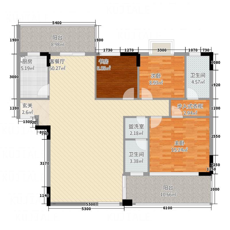 中旅国际公馆95.00㎡中旅国际公馆2室户型2室