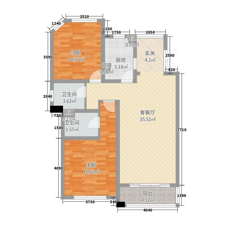 金色高尔夫外商生活区117.00㎡户型2室