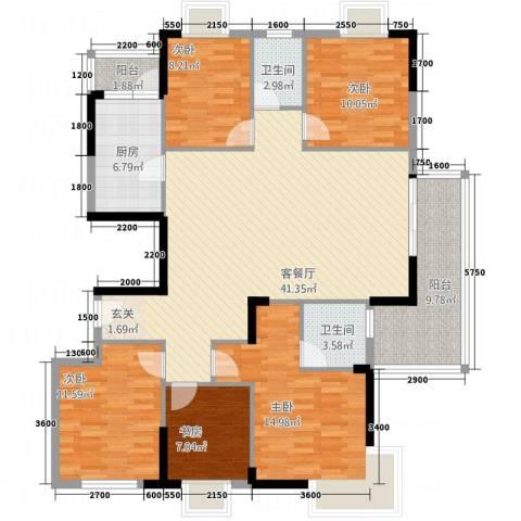 东江御城5室1厅2卫1厨25152.00㎡户型图