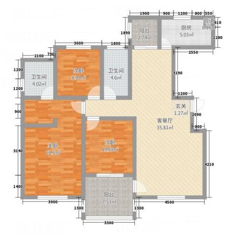 馨雅如3室1厅2卫1厨32132.00㎡户型图