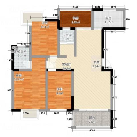 国色天香4室1厅2卫1厨127.00㎡户型图