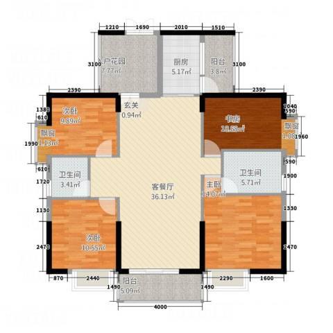 耀宝凯旋豪庭・锦公馆4室1厅2卫1厨112.29㎡户型图