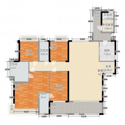 宝能太古城4室1厅4卫1厨232.00㎡户型图