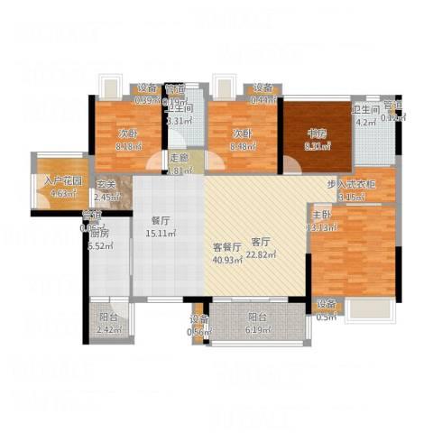 湘域中央花园4室1厅4卫1厨158.00㎡户型图