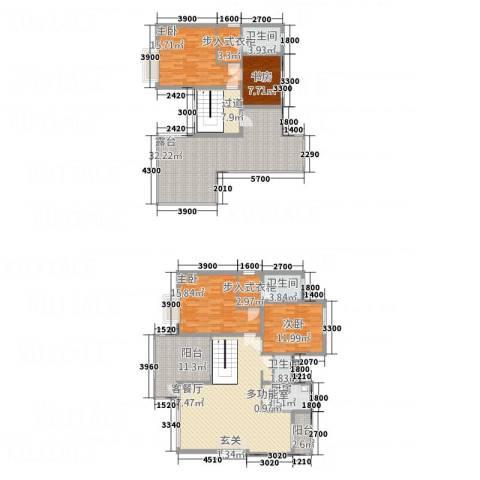 山海天4室1厅3卫1厨24163.00㎡户型图