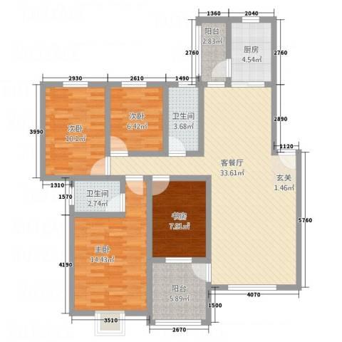 圣地亚哥4室1厅2卫1厨138.00㎡户型图