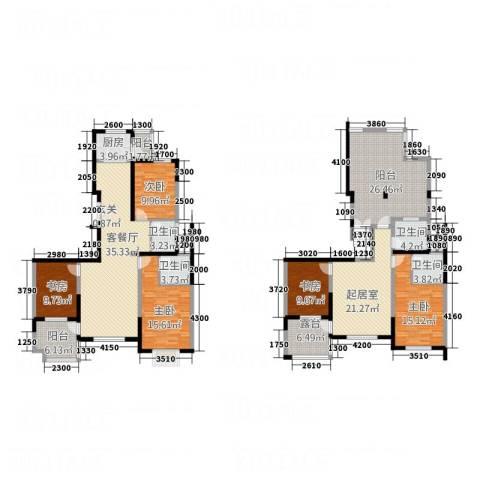 建邦・向�院5室1厅4卫1厨176.49㎡户型图
