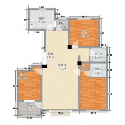 明潭府3室1厅2卫1厨146.00㎡户型图