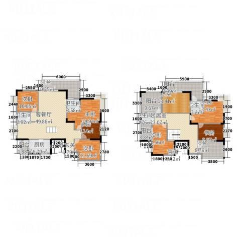 东江御城7室1厅4卫1厨229.88㎡户型图