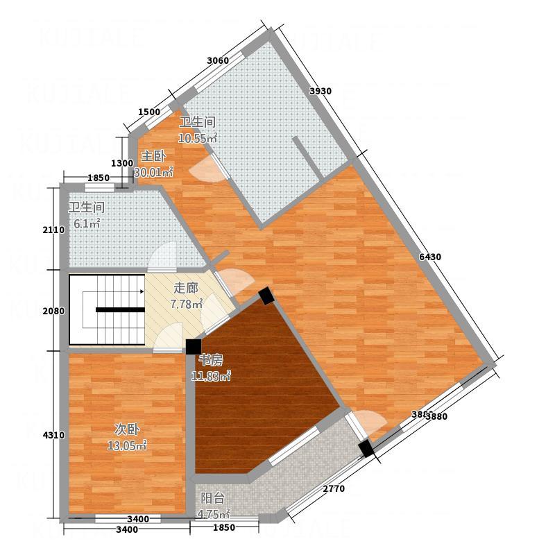 紫金湾22.00㎡K2户型4室2厅3卫