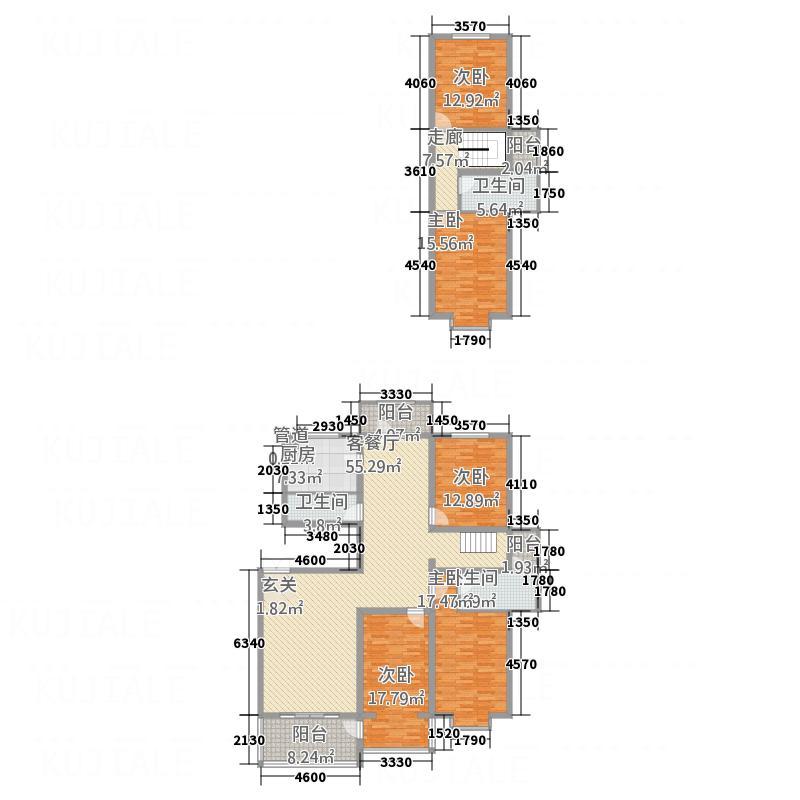 世方南华嘉园24.80㎡7A3-4复式户型4室2厅3卫1厨