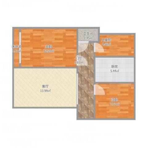 山河佳苑1063室1厅1卫1厨73.00㎡户型图