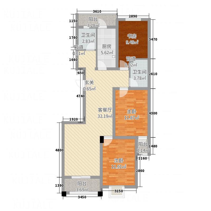 奥来新天第14号楼142125.20㎡D户型3室2厅2卫1厨