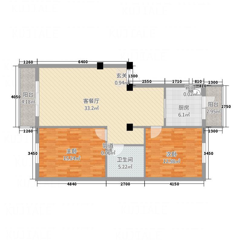 住建一品户型2室2厅1卫1厨
