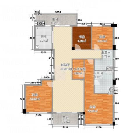 紫薇花园4室1厅2卫1厨205.00㎡户型图