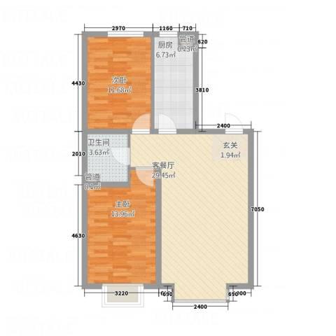 大商・中心城2室1厅1卫1厨65.79㎡户型图