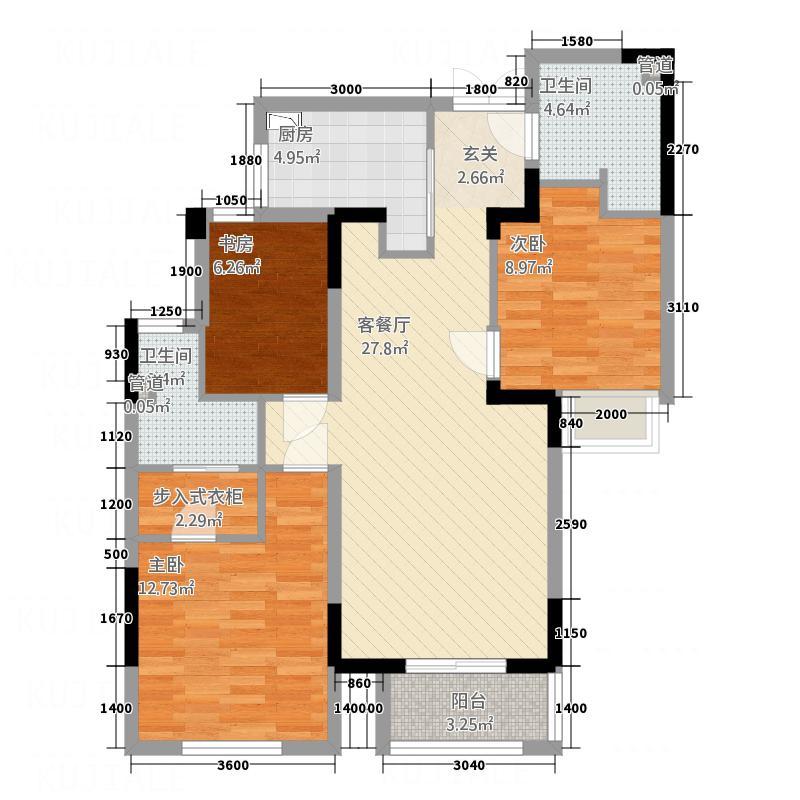 隆成城市之星16.00㎡3号楼A2户型3室2厅2卫1厨
