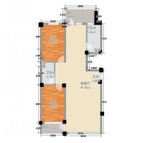 云鼎家园2室1厅2卫0厨122.00㎡户型图
