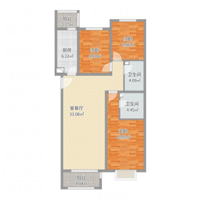 北京_23楼4-23层A-4户型图_2015-10-15-2242