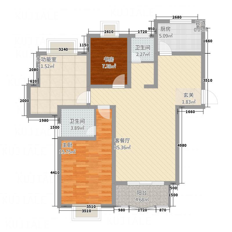 泰华家园123.56㎡户型