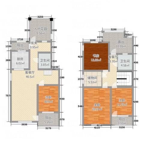 来泉山庄4室2厅2卫1厨160.04㎡户型图