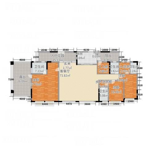 中天维港3室1厅4卫1厨231.31㎡户型图