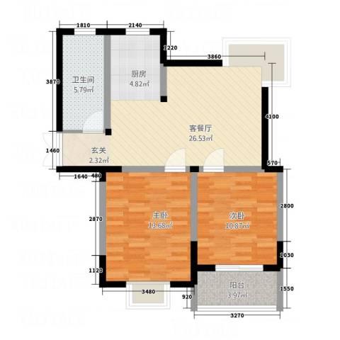 梧桐花园2室1厅1卫0厨88.00㎡户型图