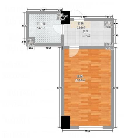东海精工社1室0厅1卫1厨60.00㎡户型图