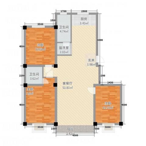 左岸・智慧城3室2厅2卫0厨134.00㎡户型图