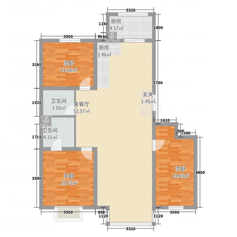8栋洋房134.58㎡8??????4?2?2?户型
